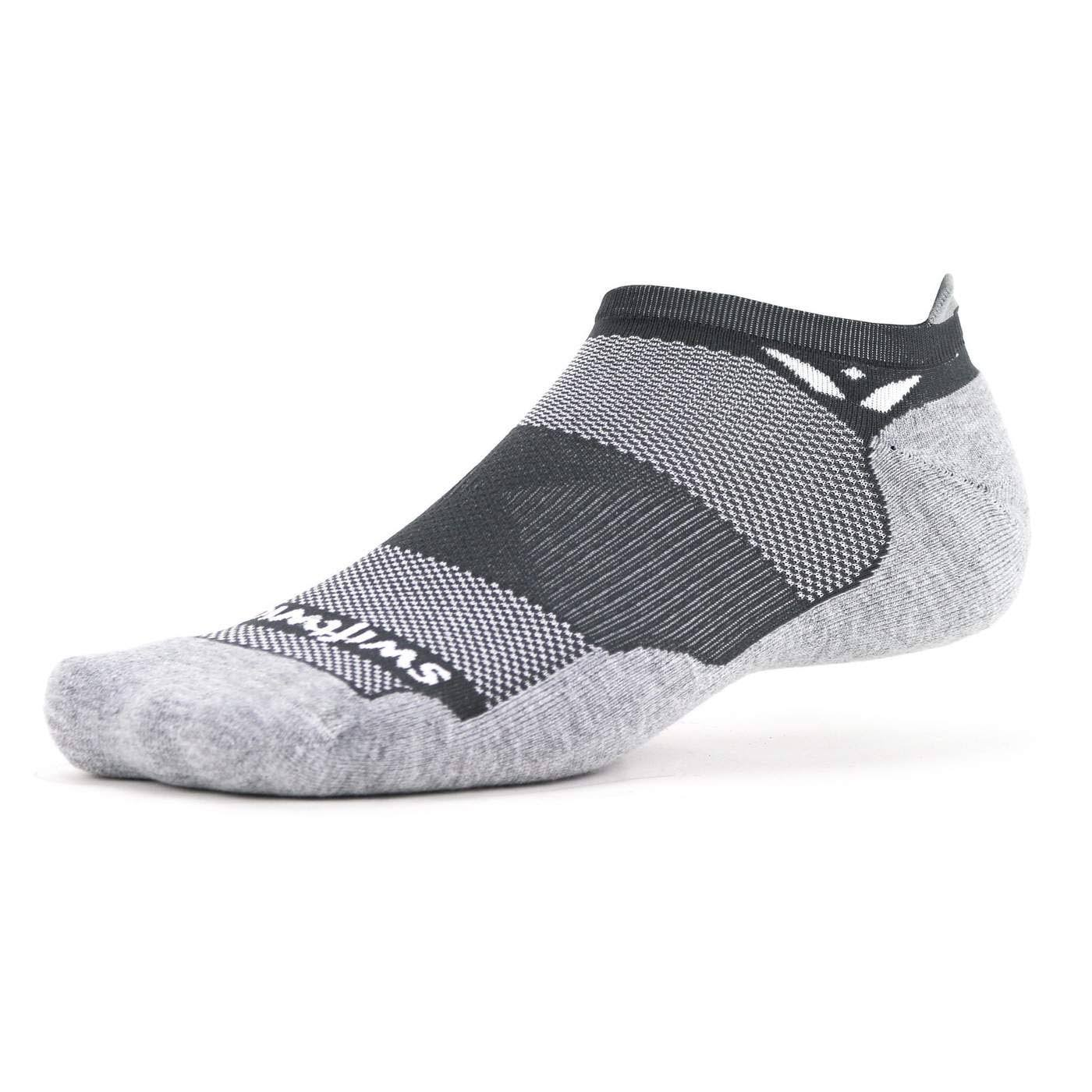 Swiftwick Maxus Zero Tab Sock (Grey) Large