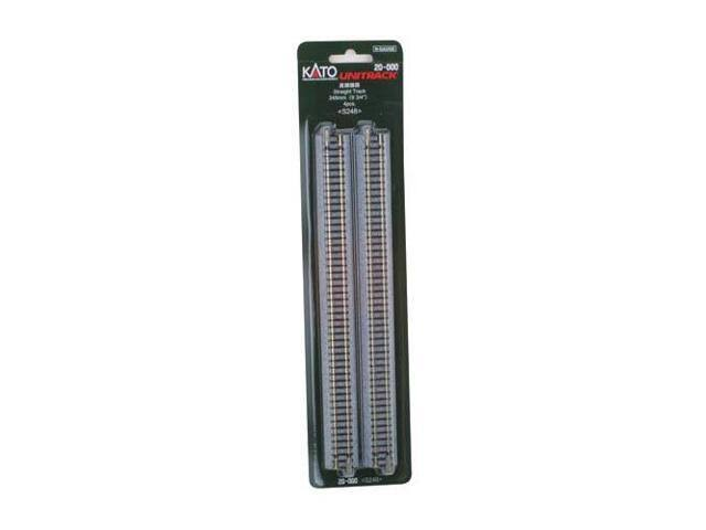 "Kato 20-000 Unitrack Straight Track Train Toy - 248mm, 9 3/4"", S248, 4pcs"