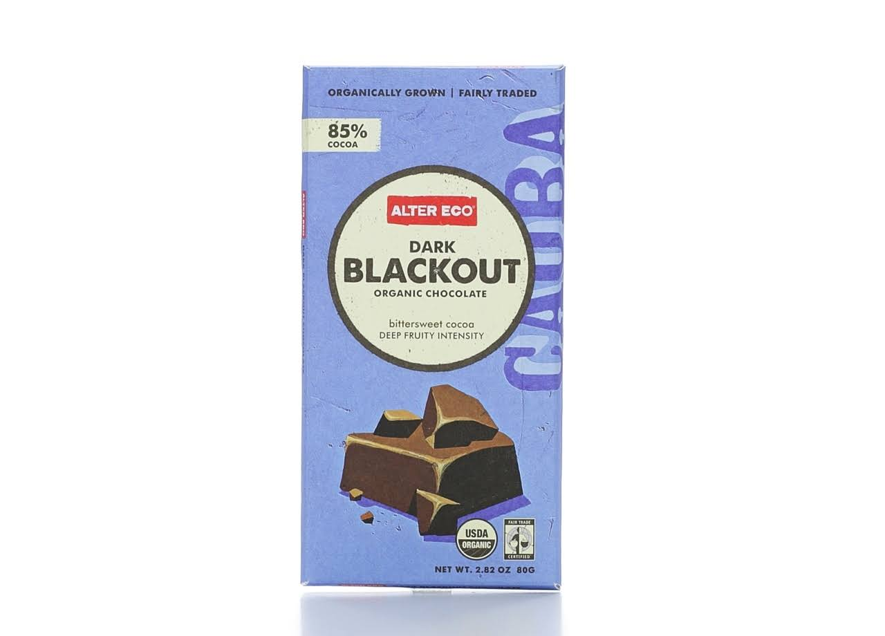 Alter Eco Organic Chocolate - Deep Dark Blackout, 2.82 oz