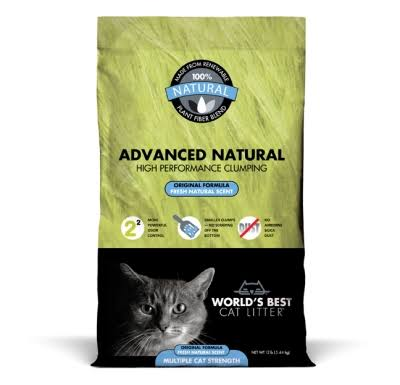 World's Best Advanced Natural Original Clumping Formula Cat Litter - 12lb