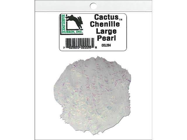 Hareline Cactus Chenille - Large Pearl