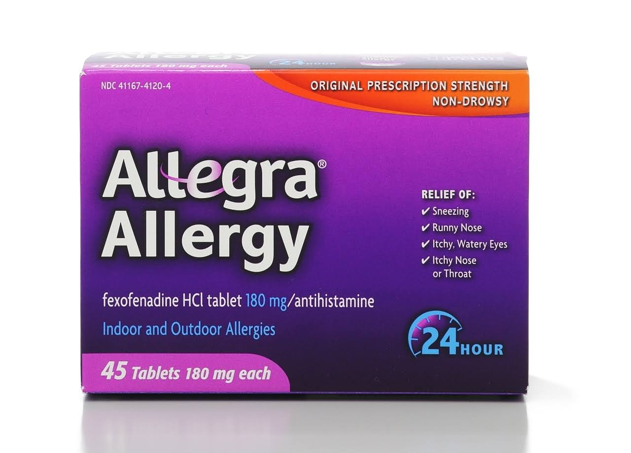 Allegra Allergy Antihistamine - 45 Tablets