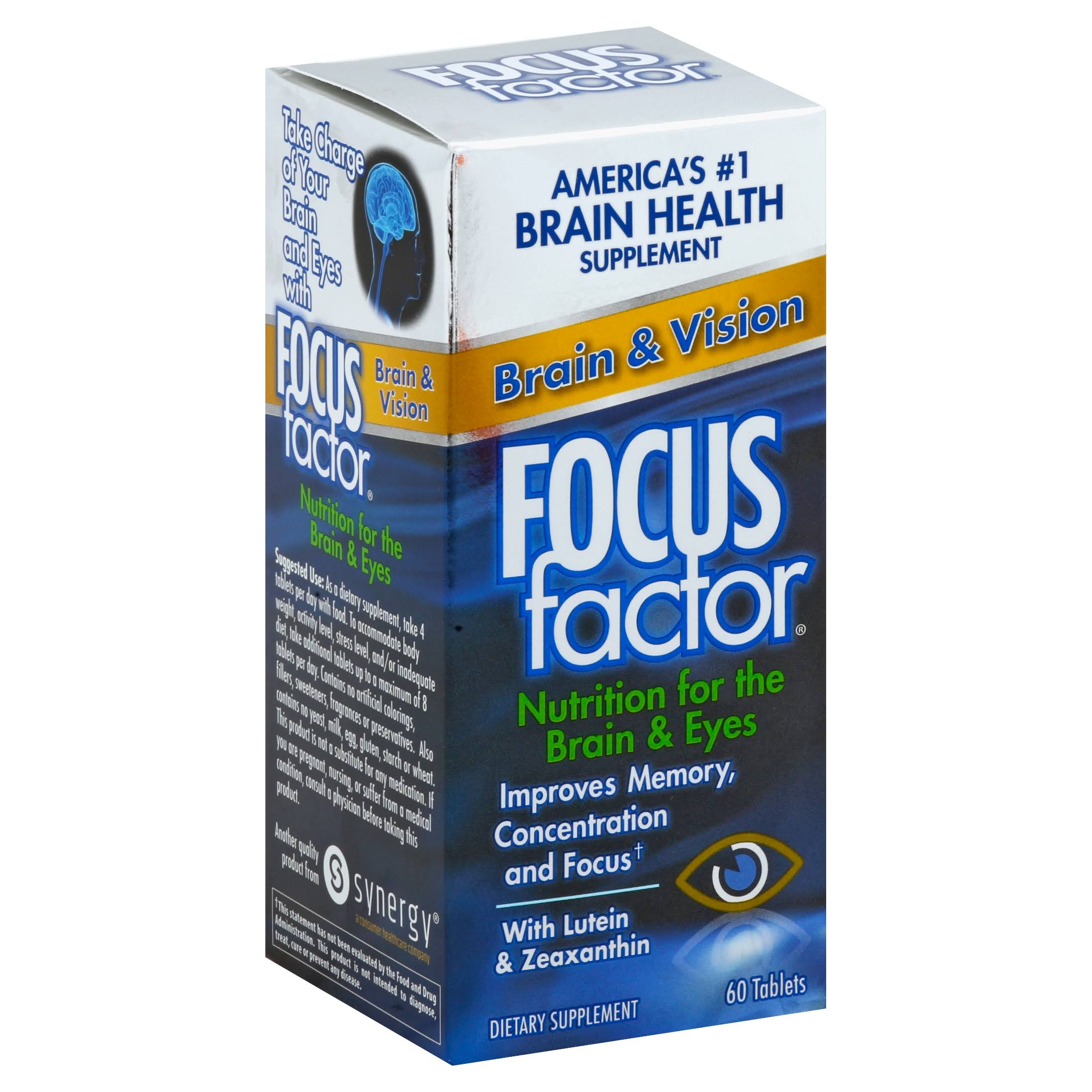Focus Factor Brain and Vision Supplements - 60ct