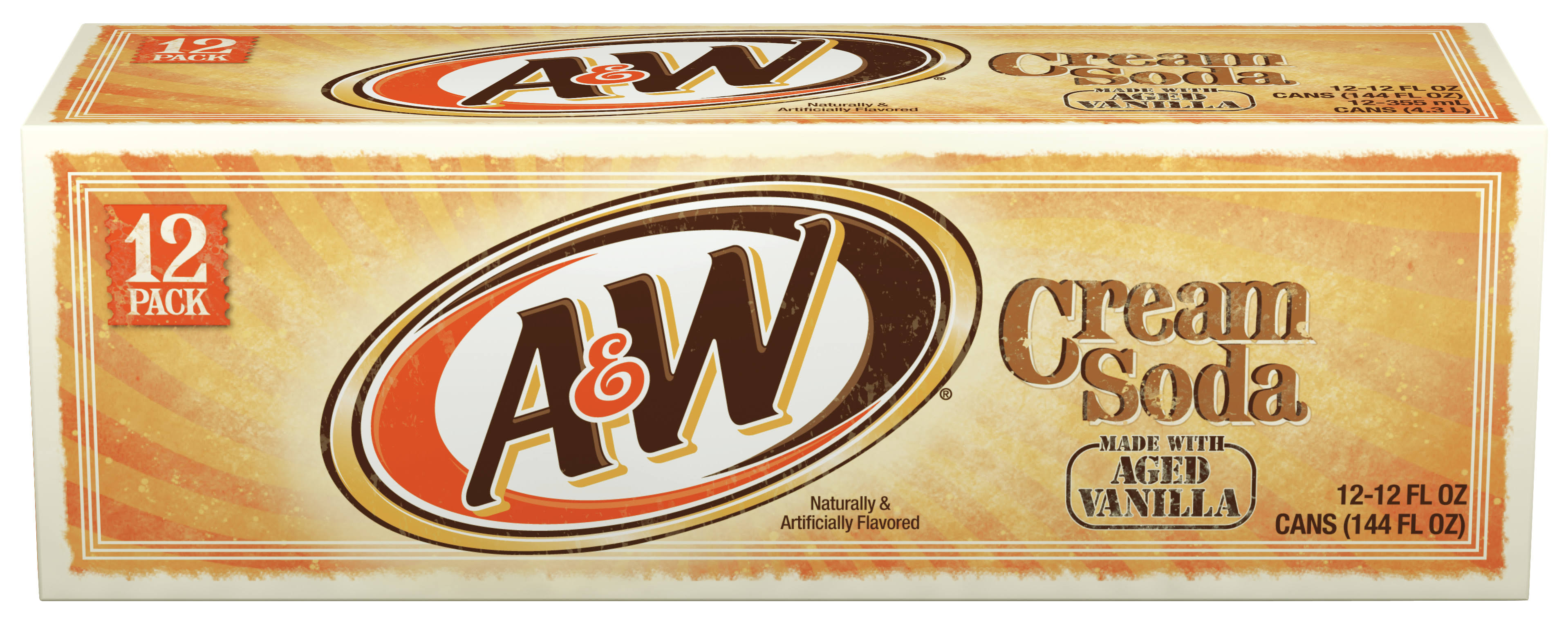 A&W Cream Soda - 12 Pack, 4260ml