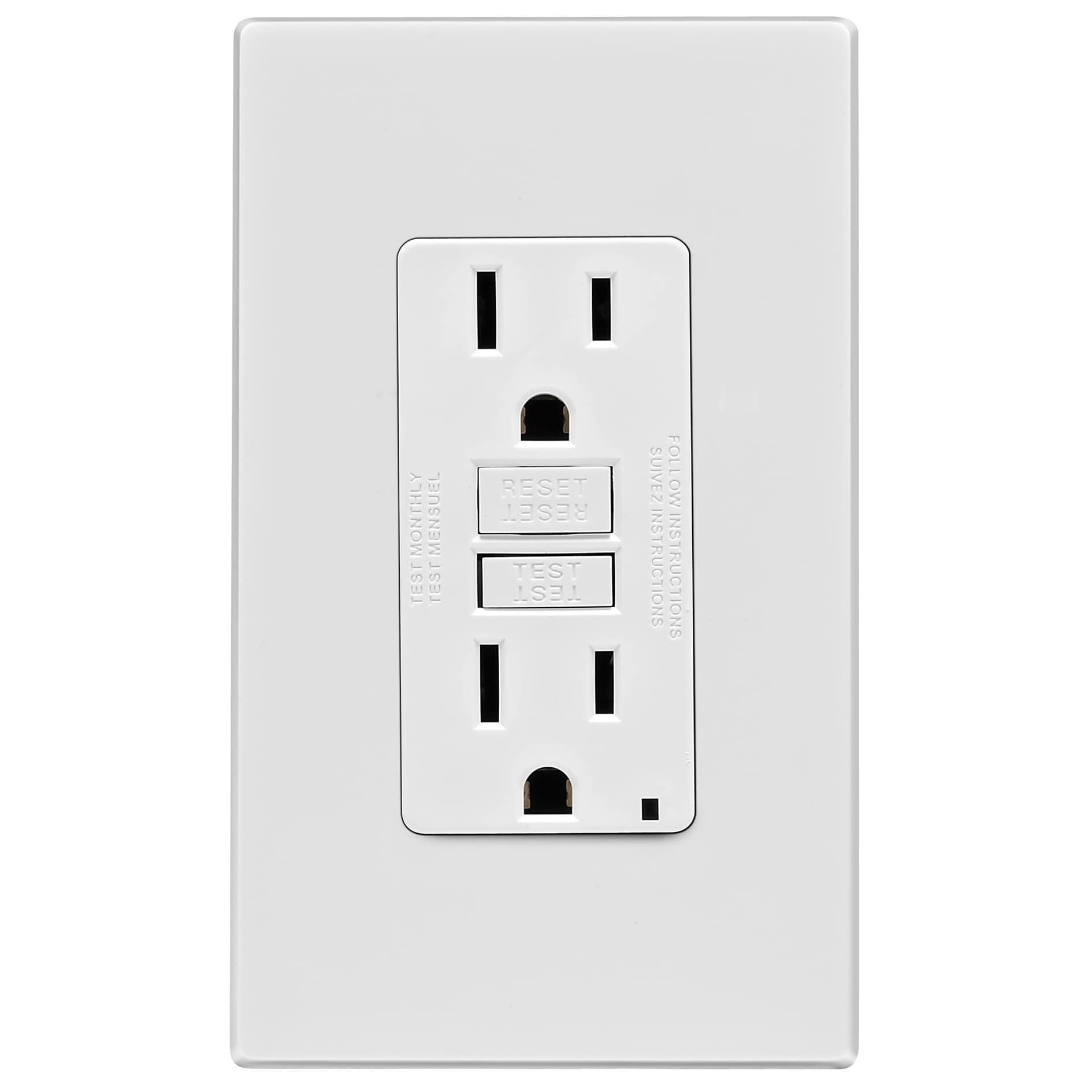 Leviton GFCI Receptacle With Plate - 15A, 125V