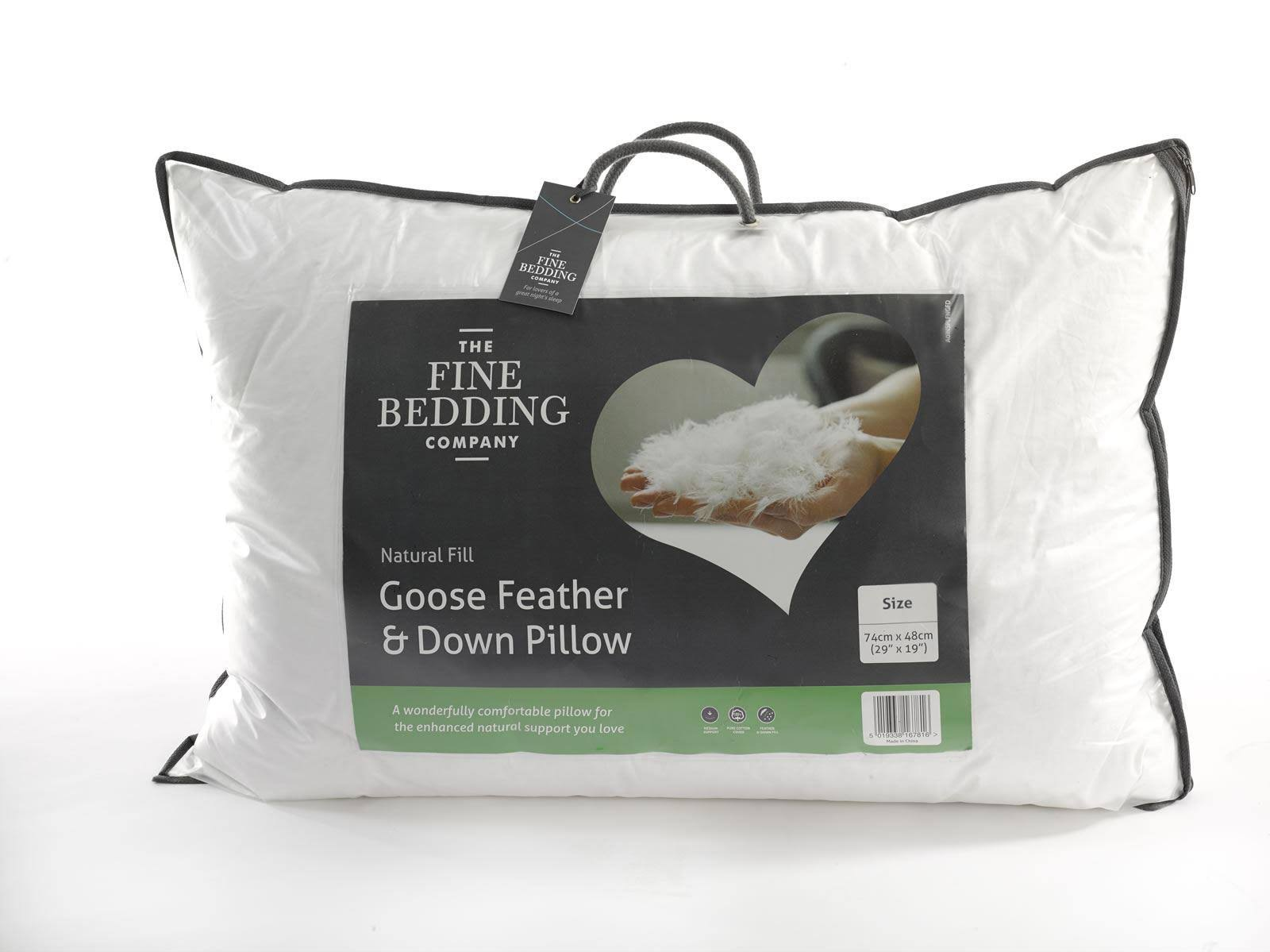 The Fine Bedding Company - Goose Feather & Down Pillow