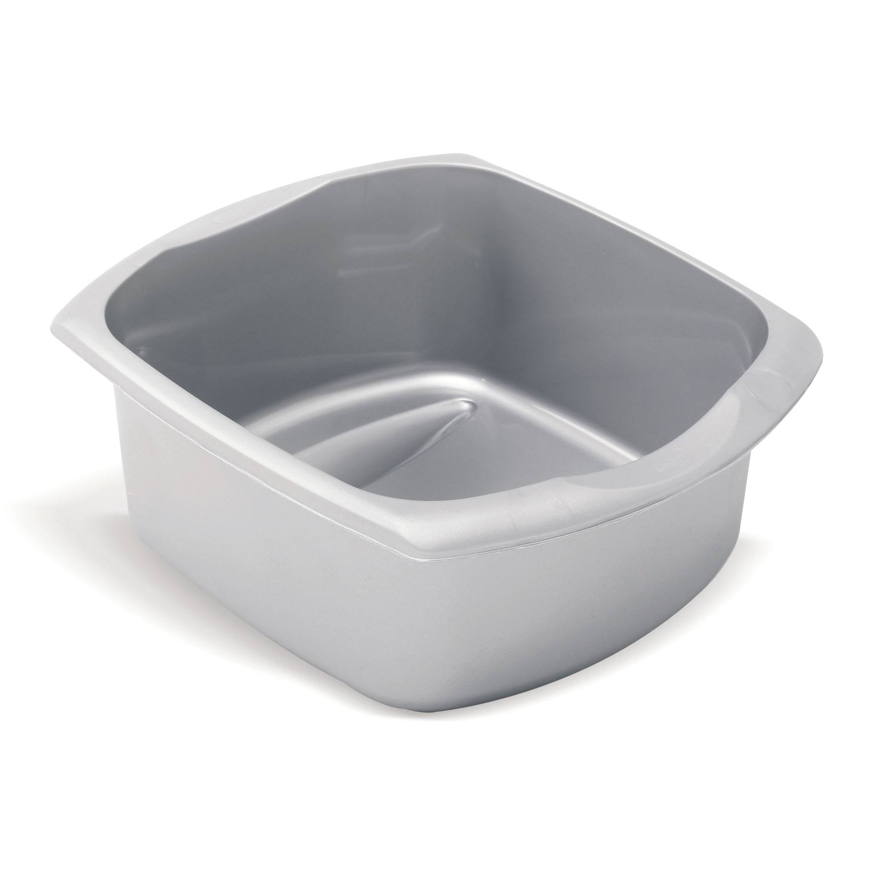 Addis Rectangular Metallic Bowl - Grey, 9.5l