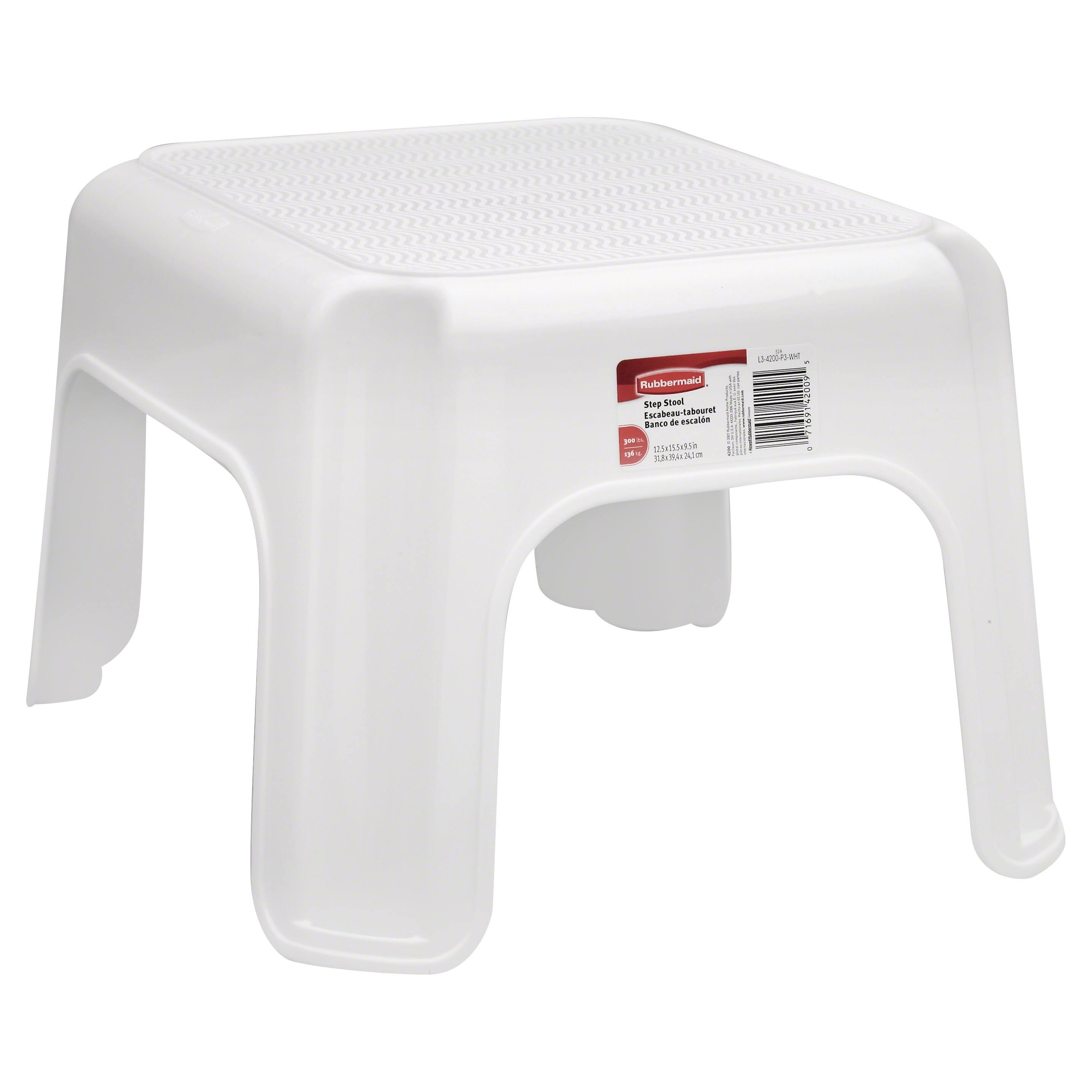 Rubbermaid Step Stool, White