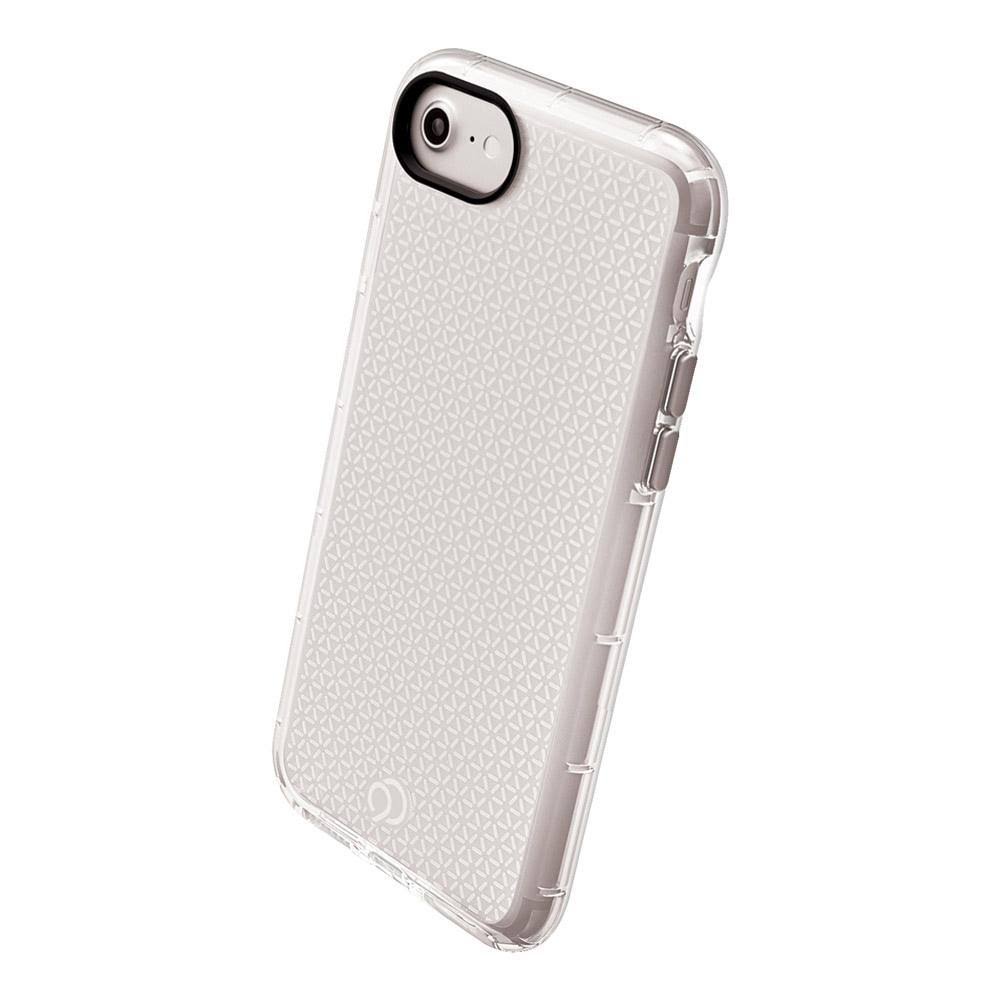 Apple iPhone 6 / iPhone 6s / iPhone 7 / iPhone 8 Nimbus9 Phantom2 Clear Case with Metallic Buttons - Clear and Silver
