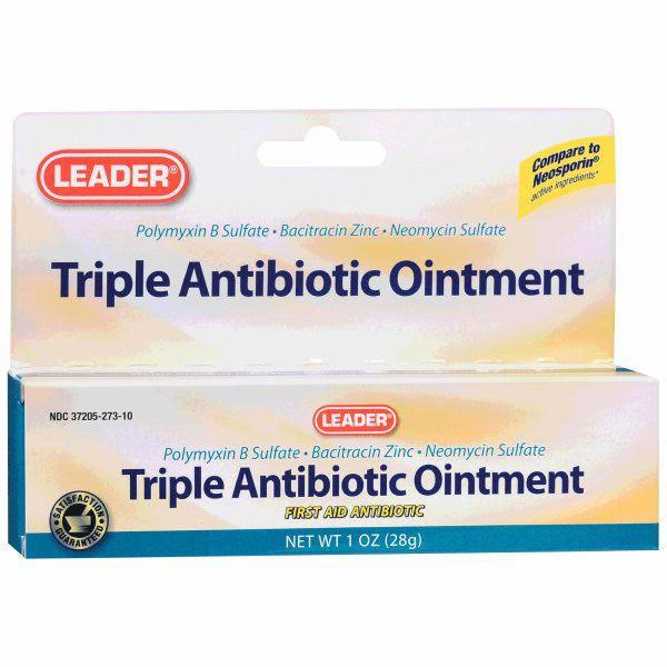 Leader Triple Antibiotic Ointment Plus - 1 Oz