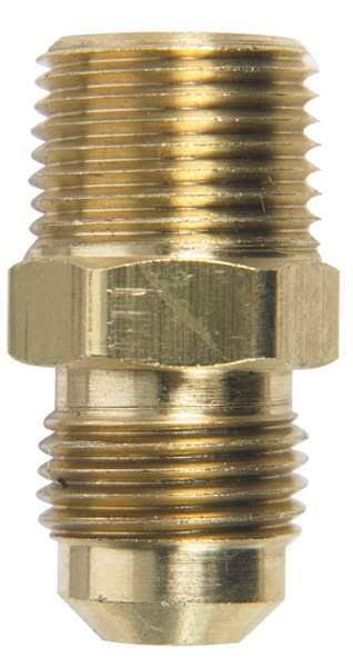 "Jmf Company Flare Male Connector - Yellow Brass, 3/8"" x 3/8"""