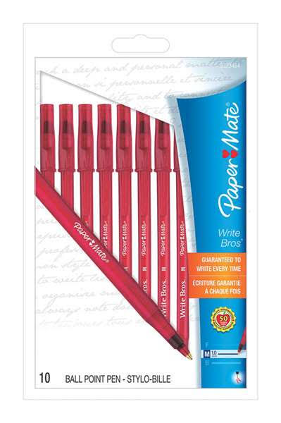Paper Mate Stick Pens Medium Red Ink