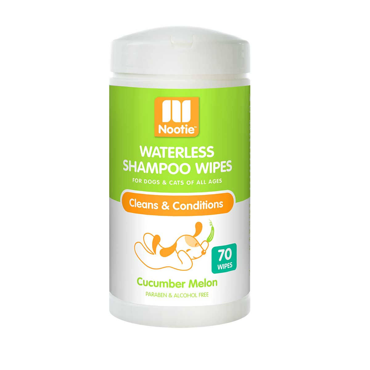 Nootie Waterless Shampoo Wipes – Cucumber Melon, 70 Count