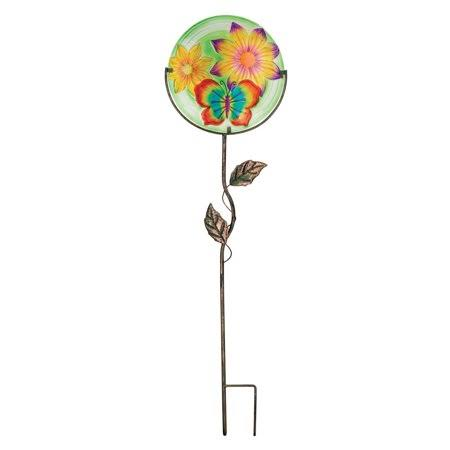 Regal Art & Gift 11320 Butterfly Glow Disc Stake, 12""
