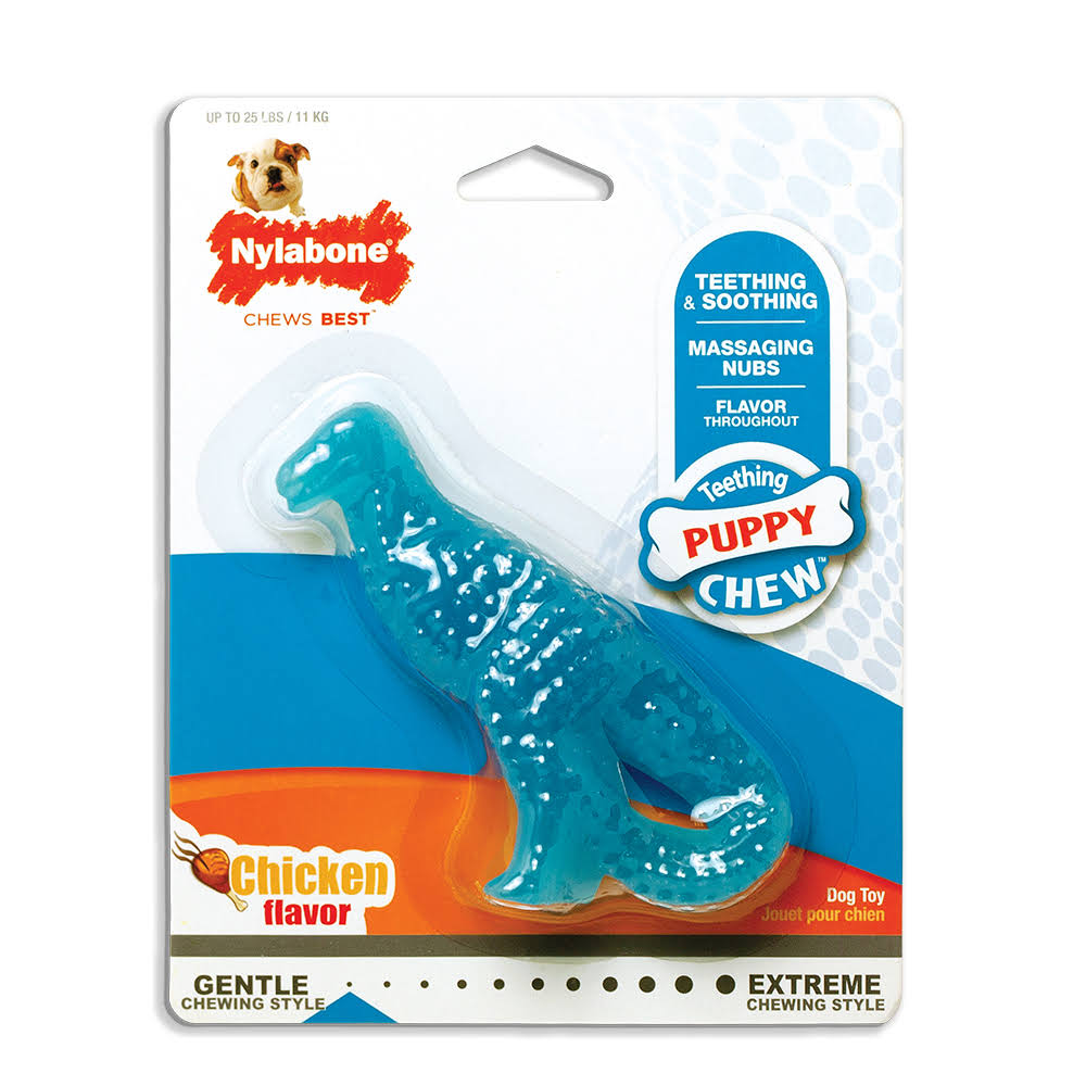 Nylabone Small Puppy Teething Dinosaur Dog Chew Toy