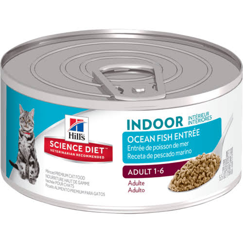 Hill's Science Diet Indoor Cat Food - Savory Seafood Entree, 156g