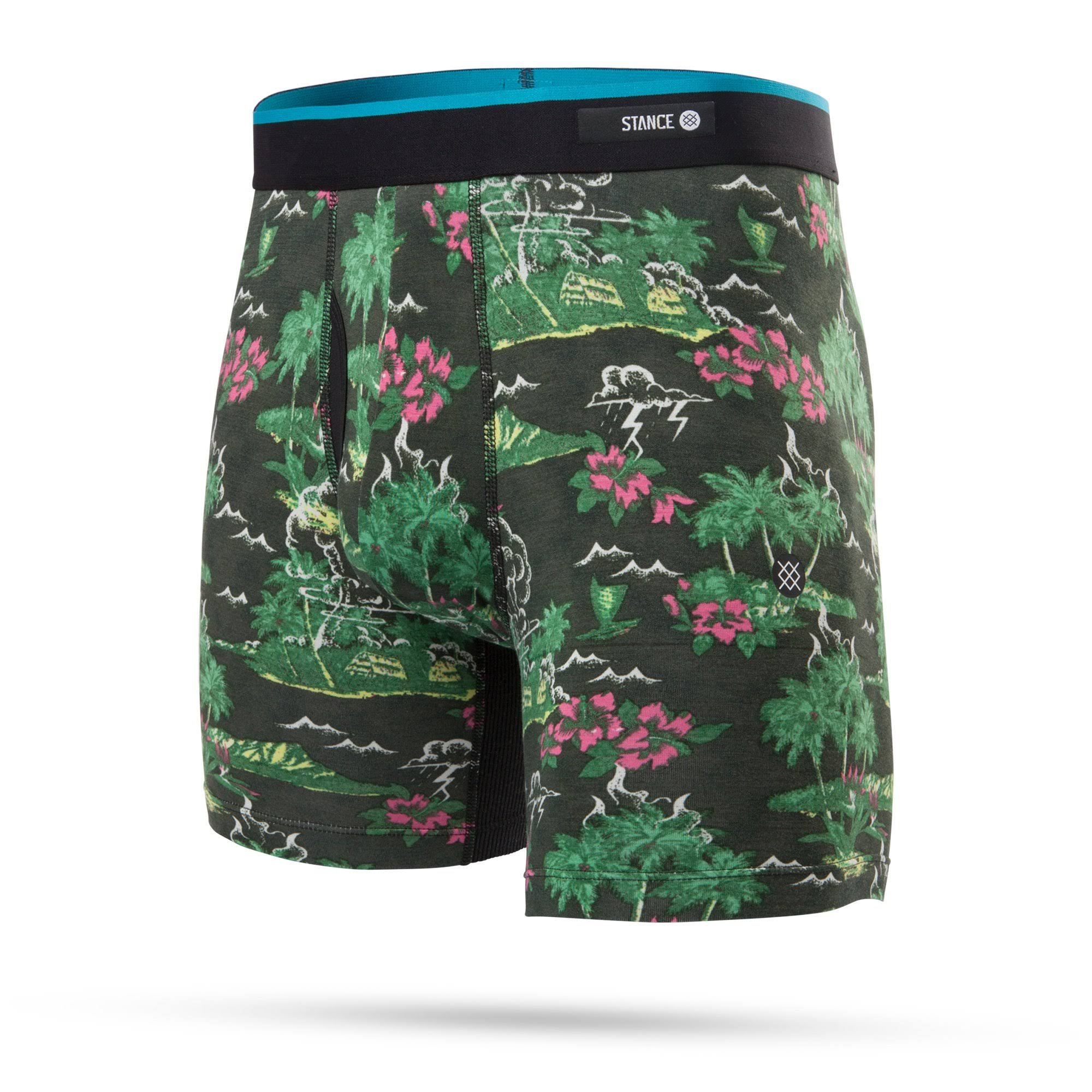 Stance Butter Blend Boxer Brief - Men's Aloha Storm/Black, M