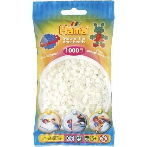 Hama Beads - Glow In the Dark, 1000 Pieces