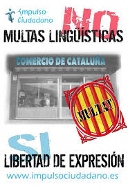 No a las multas lingüísticas en Cataluña