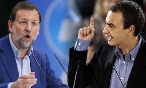 Rajoy (PP) y Zapatero (PSOE)