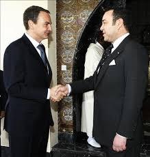 Zapatero y Mohamed VI