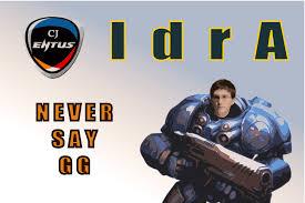 IdrA never says gg