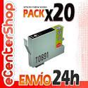 20 Cartuchos De Tinta Negra T0891 Non-oem Epson Stylus Sx405 Wifi 24h